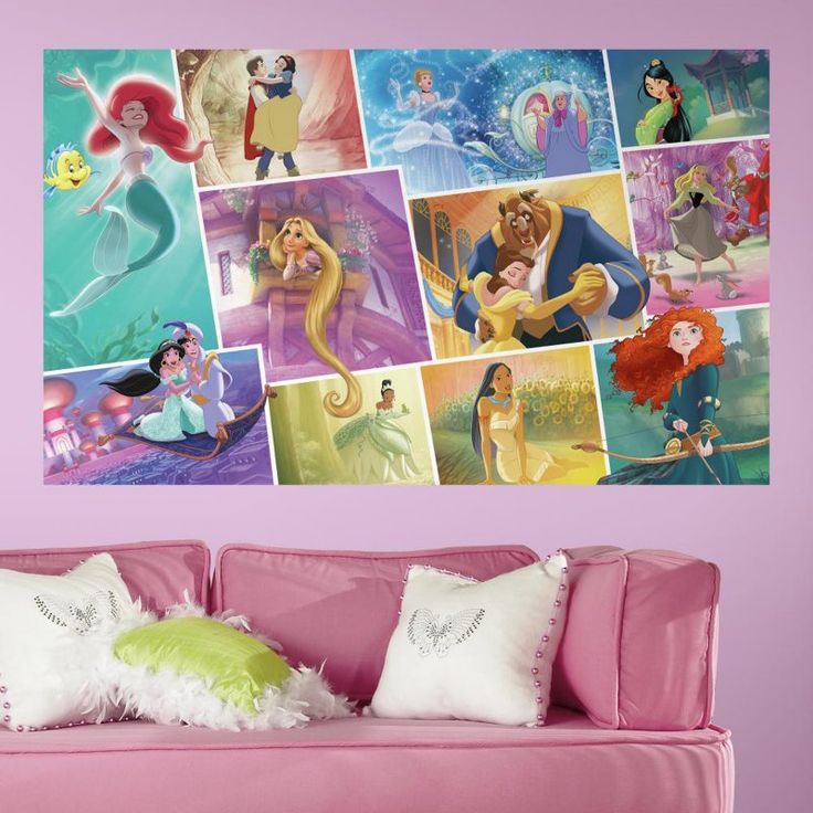 1000 ideas about princess mural on pinterest murals for Disney princess wall mural tesco