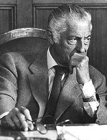 Gianni Agnelli, among other things... the only man in the world that could wore his wrist watch over his shirt cuff without looking ridiculous! Besides his reign over Fiat, his style was legendary. The most stylish CEO who ever lived.
