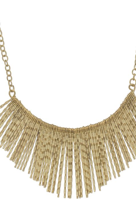 Trending gold bohemian, contemporary and tribal princess-style-necklaces with spikes and fringe  via @Roposo