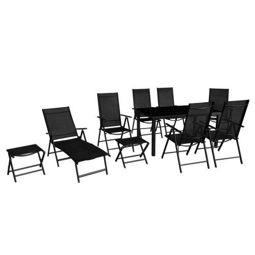 10 pcs Aluminium Garden Furniture Set