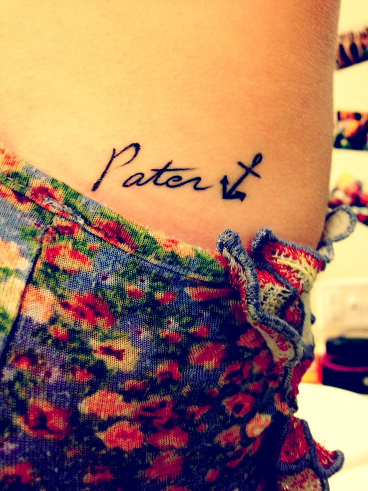 My tattoo. Pater is Latin for Father, written in my dad's handwriting & he has Filia, daughter, in my handwriting. #DaddyDaughter #Tattoo