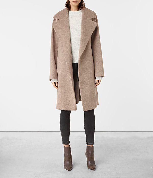 Womens Indira Coat (Oat) - product_image_alt_text_1