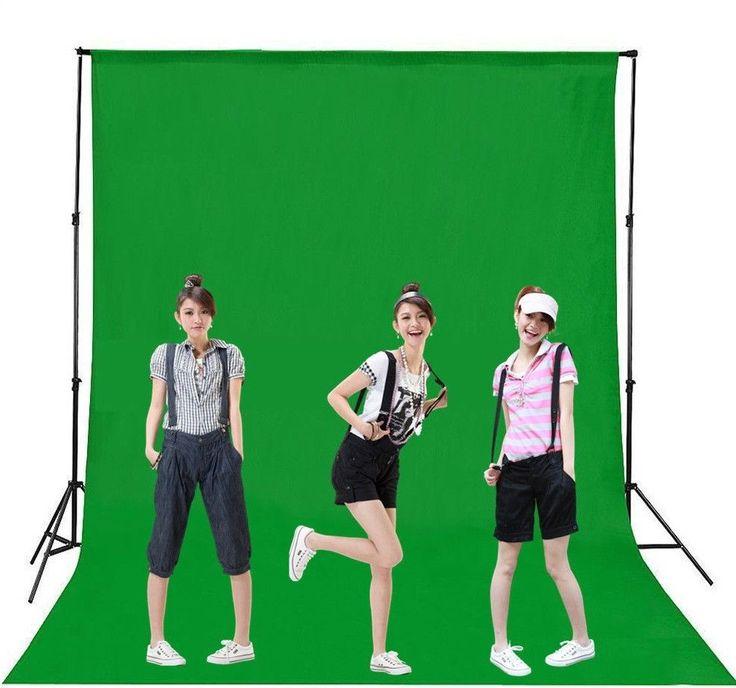 Chromakey Green Screen Muslin Backdrop Background for Studio Lighting Kit #HeroHM_Stores