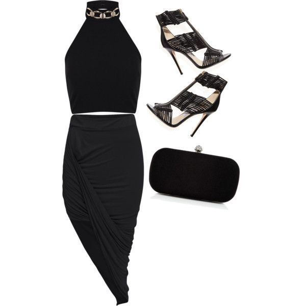 Untitled #89 by feffymoya-1 on Polyvore featuring polyvore fashion style Miss Selfridge Jimmy Choo Precis Petite