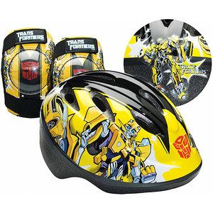 Transformers Bumblebee Toddler's Bike Helmet, Knee Pads and Elbow Pads - Value Pack