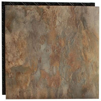 Place n39 go ocean shale 185 in x 185 in interlocking for Underlay for vinyl flooring bathroom