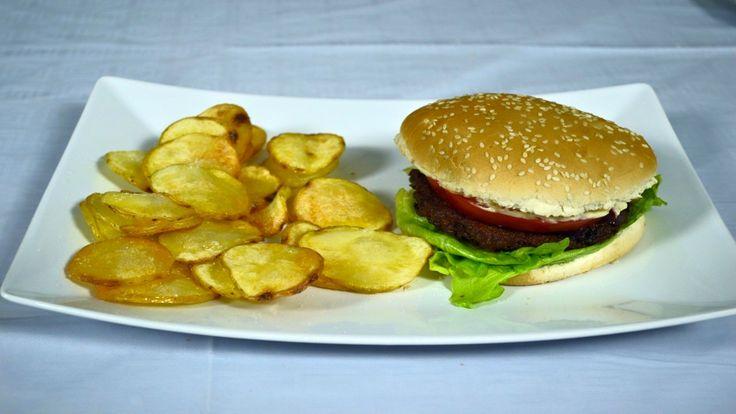 VegBurger con Chips di Patate