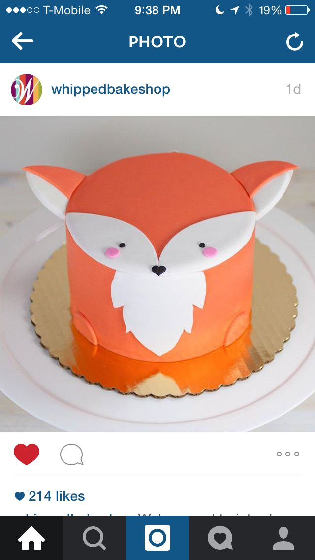 Fox cake from Whipped Bakeshop, Fishtown, Philly