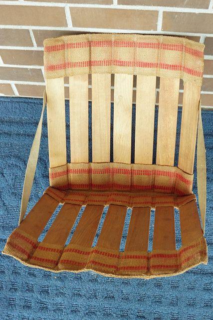 Vintage Wood Slat Amp Burlap Stadium Seats 25 Reciclaje