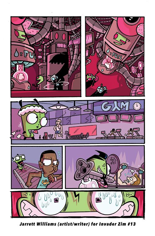 This is a sample from my back-up comic in Invader Zim #13 from Oni Press! I wrote and drew the story. My editor was Robin Herrera.