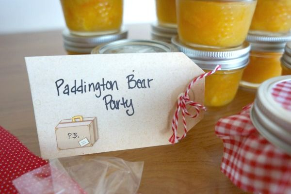 Perfect tags for your guests. Giving them a little orange marmalade might go a long way... | Paddington