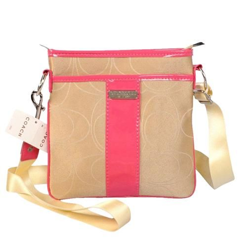 Look Here! Coach Swingpack In Signature Small Khaki Crossbody Bags CFU Outlet Online