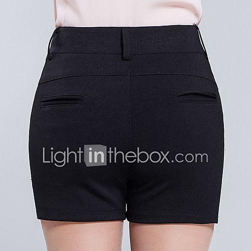 De las mujeres Pantalones Cortos-Simple Microelástico-Poliéster 2017 - $12.99