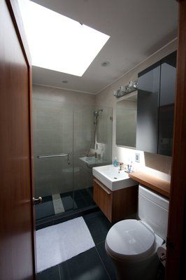 Wide floor to ceiling shower