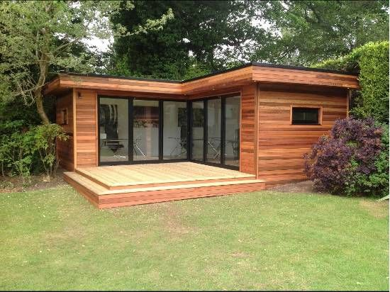 garden office L shaped - Google Search