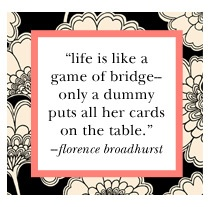 Life is like a game of bridge...  design brought to you by florence broadhurst and available in kate spade's spring line.