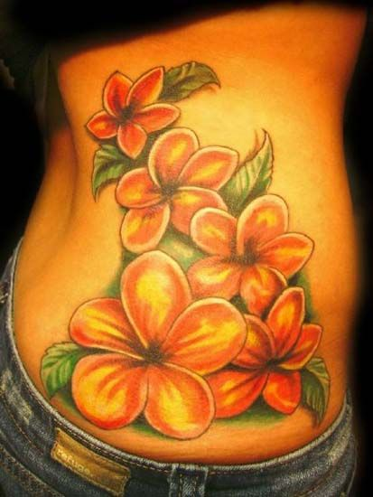 Google Image Result for http://hallowedpointtattoo.com/assets/colors/JPEG/plumeria%2520flower%2520side%2520tattoo.jpg