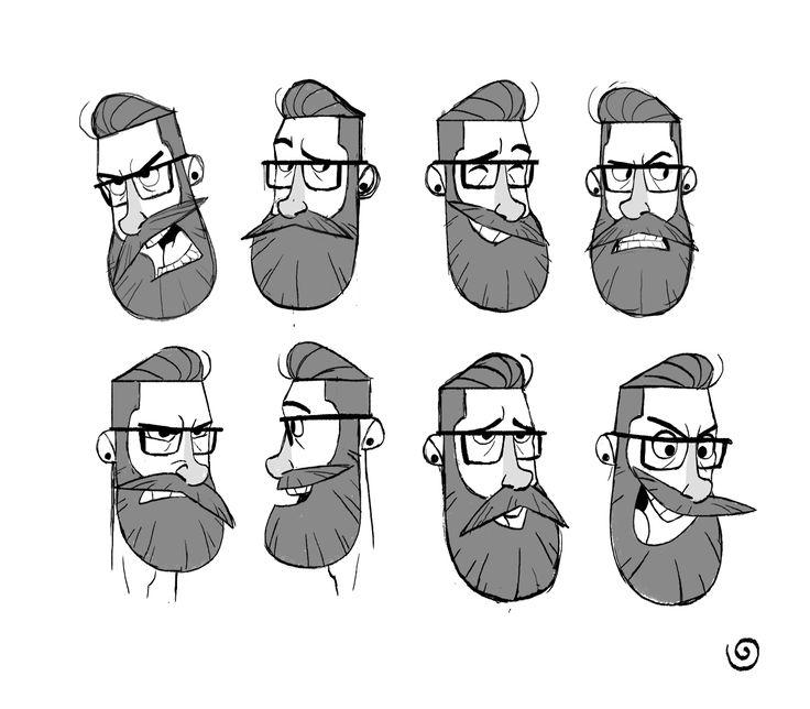 Disney Bearded Characters Glasses