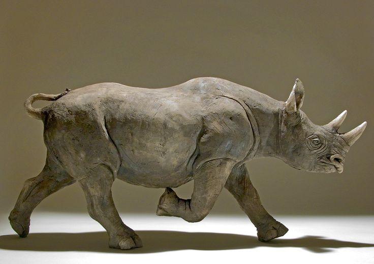 Rhino Sculpture by Nick Mackman
