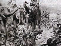 Pictured is the first Battle of Panipat which took place on April 21, 1526. This battle led to the end of the Lodi dynasty. The Sultan that ruled during the battle was Ibrahim Lodhi. Though Lodhi had the larger army and war elephants, he was unable to control them. His inability to control his army worked  against his own army. This battle was the first of many battles in India at Panipat.