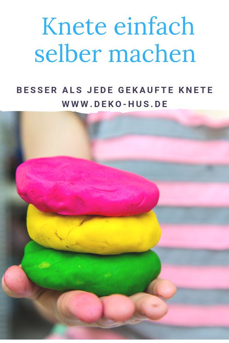 Knete selber machen zwei Rezepte zur Auswahl findest Du im Artikel Aroma Knete – Deko-Hus