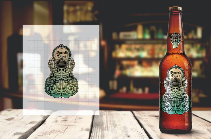Barrel's Blues Premium Beer — The Dieline - Branding & Packaging