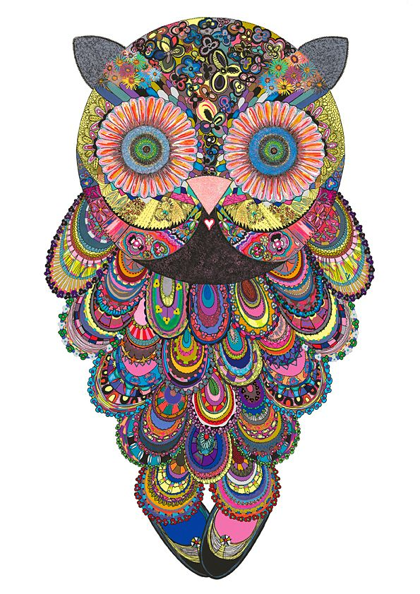 owls owls owlsPsychedelic Owls, Inspiration, Stuff, Owls Tattoo, Colors, Owls Owls, Owls Art, Things, Art Texture