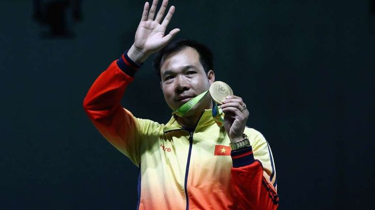 Vietnam wins its first ever Olympic gold medal with 10m air pistol victory  -  August 6, 2016