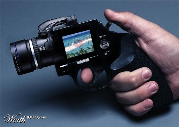 "This put's a whole new meaning to the word ""shoot"" I love it! this is a camera my hubby would carry"
