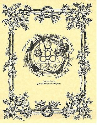 Book of Shadows Spell Pages ** Goetic Circle ** Wicca Witchcraft BOS