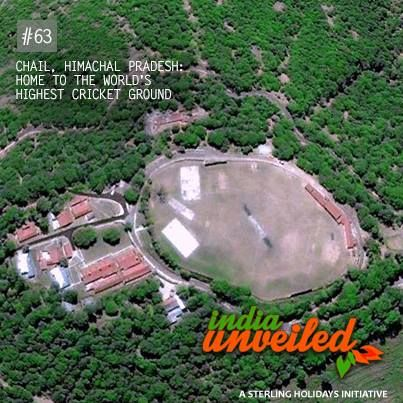 Chail, 44 km from Shimla in Himachal Pradesh, is home to the world's highest cricket ground. Built in 1893 on a hilltop, this cricket pitch is at an altitude of 2,444 meters. Surrounded by forests of chir pine and gigantic deodars, Chail is also a hiker's paradise.  To download and read more India Unveiled stories, visit www.indiaunveiled.org