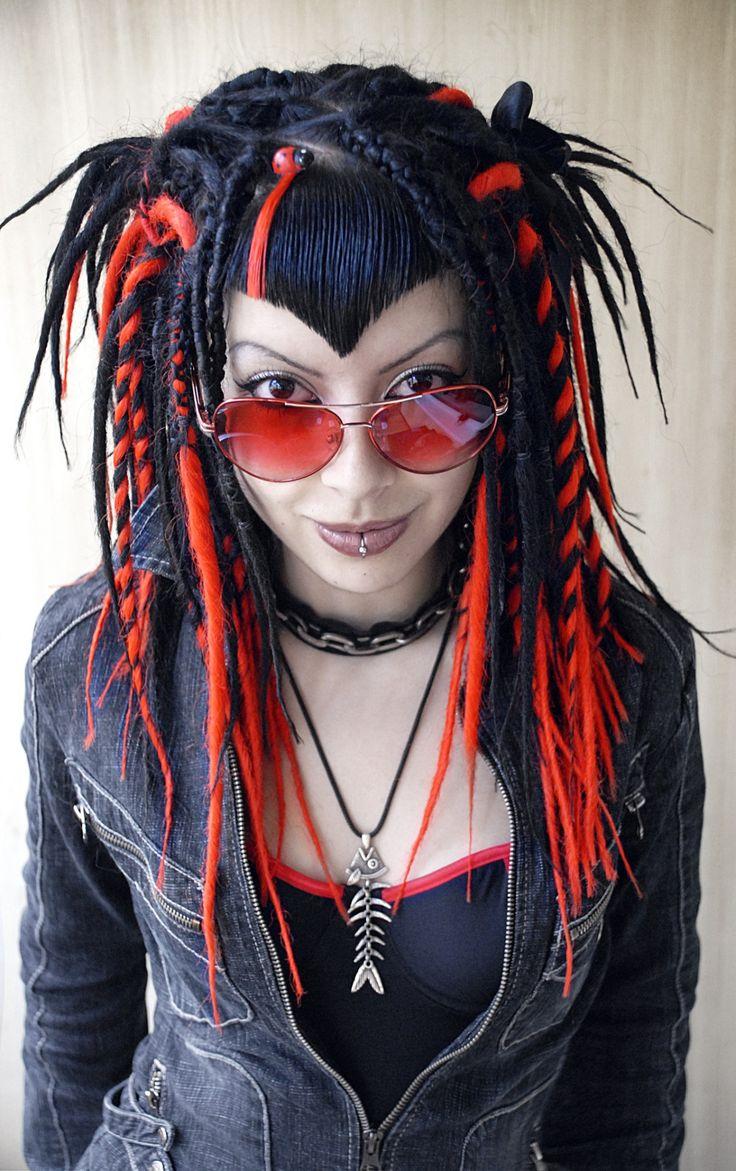 Pin by Rabid Mayday on Street Goth Goth hair, Red