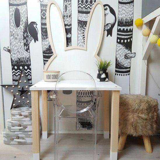 Bunny desk designed and hand made by Wild One Design http://wild-one-design.com/