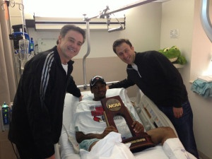 Rick pitino brought his son and current fiu coach richard to the