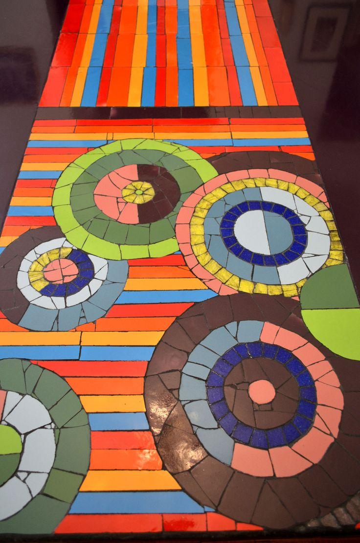 Restauraci n de mesa de madera con mosaico pedido - Mosaico de madera ...