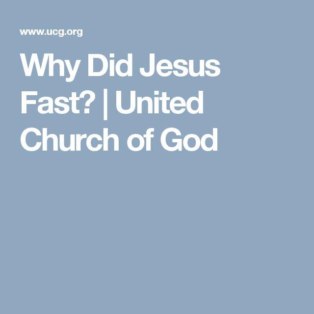 Why Did Jesus Fast? | United Church of God