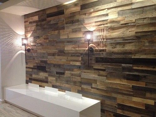 DIY Project with Faux Wood Paneling for Walls