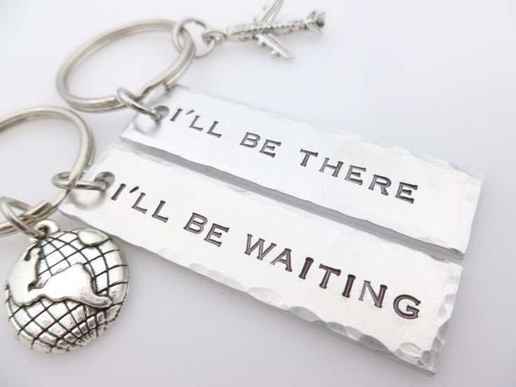 Long Distance Relationship Key Chain There and Waiting LDR Long Distance Love These make great gift ideas