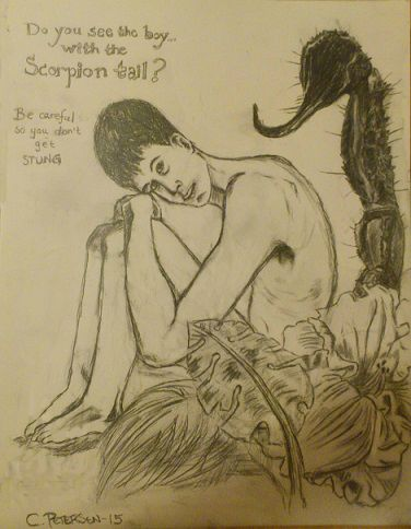 """""""The Boy with the Scorpion Tail."""""""