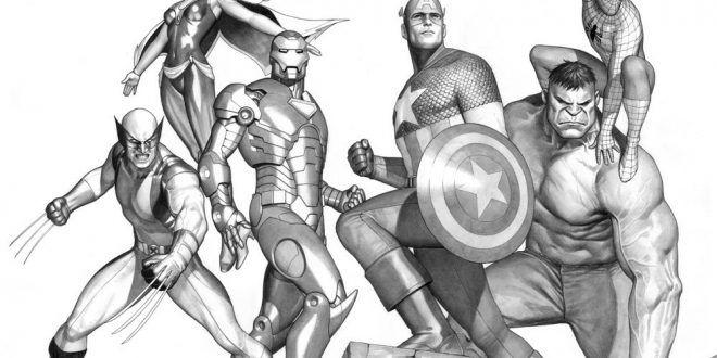 Aneka Gambar Sketsa The Avengers | WarnaGambar.com