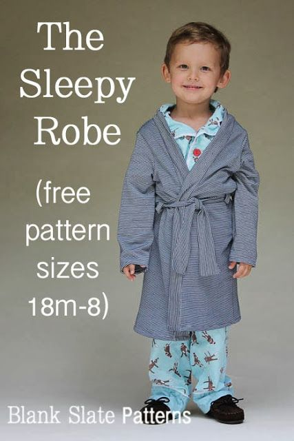 sleepy #robe #sewing #pattern 18 mos to 8years by @Melissa (Melly Sews)
