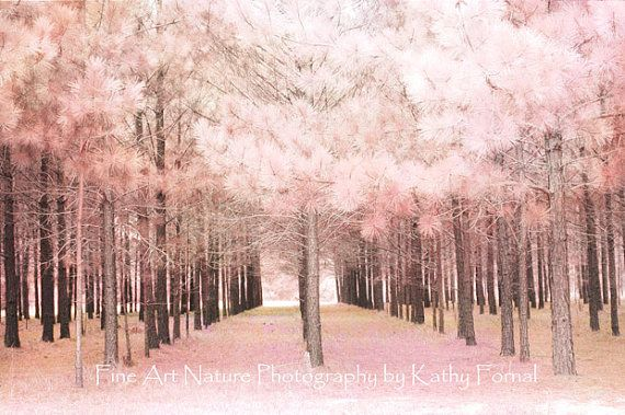 Nature Photos Dreamy Pink Surreal Nature Photo Pale by KathyFornal, $30.00: Dreamy Pink, Natural Photography, Pink Trees, Art Photography, Nursery Decor, Pink Natural, Nature Photography, Pink Nature, Baby Girls Nurseries