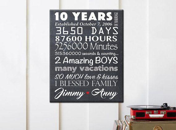 Regalo de Aniversario  Decimo Aniversario  Aniversario de