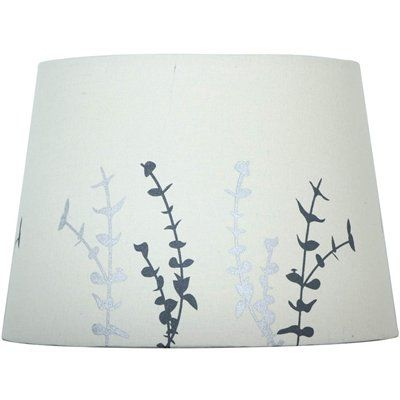 Allen Roth Lamp Shade S 2605 7 In X 10 In Off White With Silver