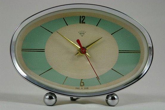 vintage 50s atomic clock by olknarf
