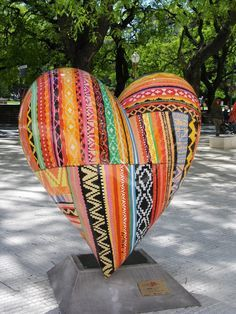 buenos aires urban art heart sculpture - Google Search