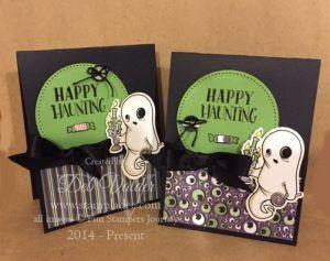 FJS Eye See You Background Halloween card - bjl