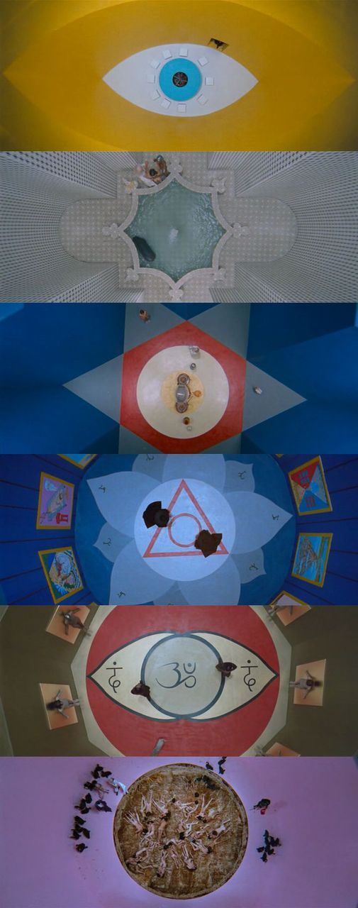 areal shots from The Holy Mountain -  Alejandro Jodorowsky