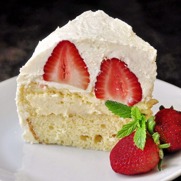 Happy Canada Day weekend. We're celebrating with red and white desserts this week and this over-the-top Strawberry Vanilla Buttercream Cheesecake Shortcake would be a sure fire hit at your celebration. It's just one of 50 strawberry recipes we have compiled in this recipe collection. Give them a browse to find some strawberry inspiration this weekend.