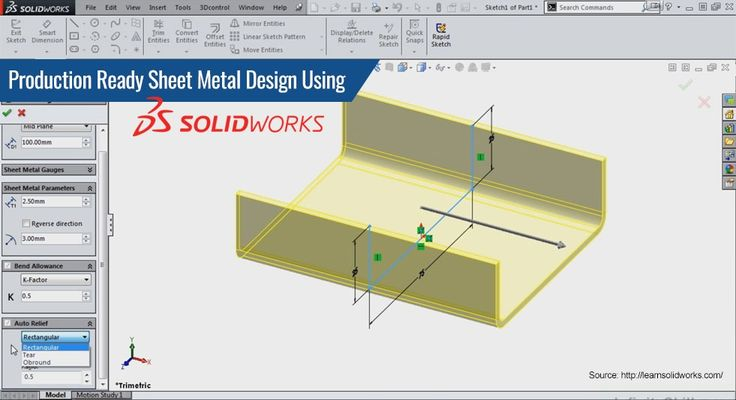 Production Ready #SheetMetalDesign Using #SolidWorks
